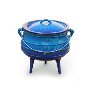 LK's Pot Blue Enamel (3-Leg) No. 3