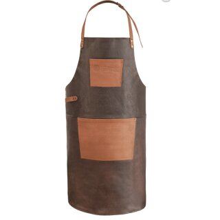 Buff Leather Apron with neck strap