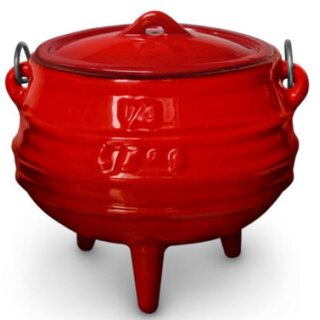 LK's Pot Red Enamel (3-Leg) 1/4
